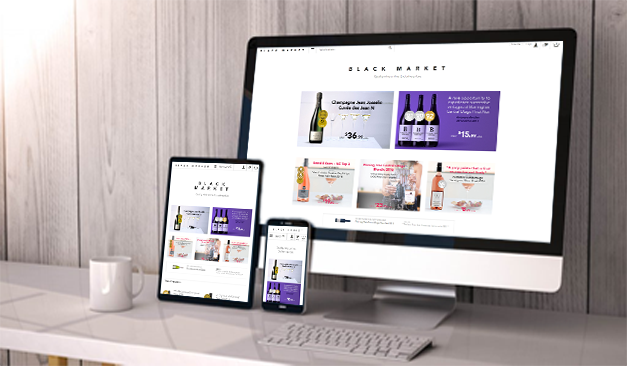 We've launched the new Black Market Wines website